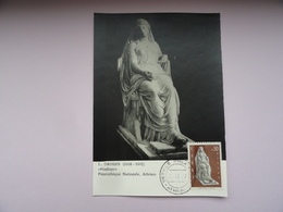 CARTE MAXIMUM CARD PENELOPE PAR DROSSIS GRECE - Scultura