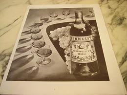 ANCIENNE PUBLICITE  COGNAC HENNESSY 1951 - Alcools