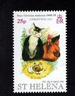 693919972 ST. HELENA POSTFRIS MINT NEVER HINGED POSTFRISCH EINWANDFREI SCOTT 881 THE UGLY DUCKLING HOUSECAT - Isla Sta Helena