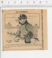 2 Scans Presse 1913 Humour Passage à Tabac Chique / Cafetier Bar Comptoir ?? Maison Roussel ??? 51D5 - Old Paper