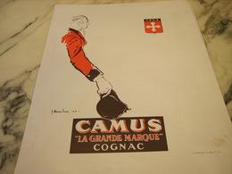 ANCIENNE PUBLICITE COGNAC CAMUS GRANDE MARQUE 1946 - Alcools