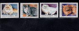 693920719 YUGOSLAVIA POSTFRIS MINT NEVER HINGED POSTFRISCH EINWANDFREI SCOTT 2163 2166 DOMESTIC CATS - Zambie (1965-...)
