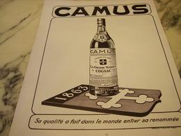 ANCIENNE PUBLICITE DANS LE MONDE COGNAC CAMUS  1951 - Alcools