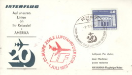 DDR-Erstflugbeleg Interflug Berlin-Havanna 2.11.1974 - DDR