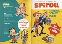 SPIROU Depliant Pour Le Magazine Spirou (1) - Otros