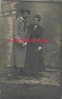 Carte Photo Soldat 117e Régiment-béret De Chasseur? En Couple, Jour Du Mariage - Guerre, Militaire