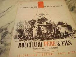 ANCIENNE AFFICHE PUBLICITE VIN BOUCHARD PERE  ET FILS BOURGOGNE 1951 - Alcohols