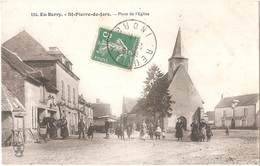 Dépt 36 - SAINT-PIERRE-DE-JARDS - Place De L'Église - (maréchal-ferrant) - Saint-Pierre-de-Jars - Sonstige Gemeinden