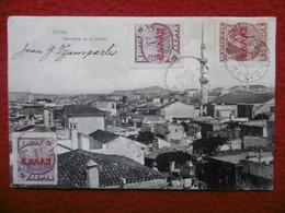 CRETE PANORAMA DE LA CANEE TIMBRE SURCHARGE CACHET - Grèce