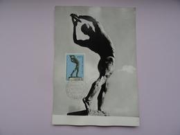 CARTE MAXIMUM CARD DISCOBOLE PAR DIMITRIADIS GRECE - Sculpture