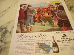 ANCIENNE PUBLICITE CARDINAL RICHELIEU  COGNAC REMY MARTIN 1946 - Alcools