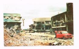 Calle De Santo Domingo.Tremblement De Terre Du 23.12.1972. Vieilles Autos. Oldtimer. - Nicaragua