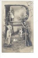 21254 - Femme Et Enfants  Carte Avec Lettre R Vers 1905 - Femmes