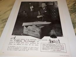 ANCIENNE PUBLICITE CHATEAU ST GEORGES 1951 - Alcohols