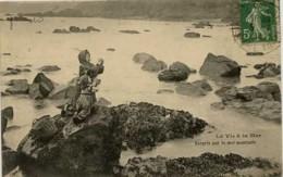 Dpt 44 Le Croisic Surpris Par La Mer Montante, Animee - Le Croisic
