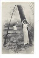 21255 - Femme Et Enfant  Carte Avec Lettre A Vers 1905 - Femmes
