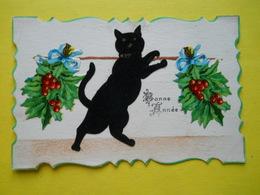 Bonne Année ,chat Feutrine ,ajoutis - Cats