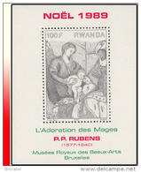 "Rwanda BL 103** Noel ""L'Adoration Des Mages"" Rubens MNH - Rwanda"