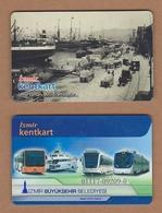 AC - MULTIPLE RIDE METRO, SUBWAY, PASSENGER FERRY & BUS PLASTIC CARD IZMIR #9, TURKEY PUBLIC TRANSPORTATION - Other Collections