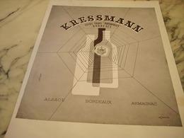 ANCIENNE PUBLICITE VIN KRESSMANN 1946 - Alcools