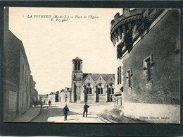 CPA - LA POTHERIE - Place De L'Eglise, Animé - France