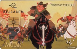 Télécartes - BELGIQUE - MULAN - Disney