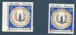 "FR YT 2646 & 2646a "" Croix-Rouge, 2 Dentelures "" 1990 Neuf** - France"