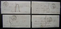 Grenoble 1842 Et 1843 Lot De 4 Lettres De La Mairie Pour Monsieur Clerc Officier De La Légion D'honneur à Roquemaure - 1801-1848: Précurseurs XIX