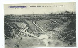 Bienvillers Aux Bois Enemy Trenches  1915 Ww1  Censored Not Used - Francia