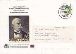 PU 290/52 5..bis 7. Oktober 1990 Bundes- Und Philatelistentsg In Der Zeppelinstadt Friedrichshafen, Nürtingen 3 - BRD