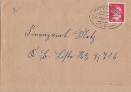 Lettre Obl. Ambulant (T369 Metz-Trier A Zug 0984) Sur TP Reich 12pf Le 11/2/44 Pour Metz - Alsace-Lorraine