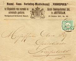 3 NOV 98 Drukwerk Envelop Met Firmalogo Van Amsterdam Naar Simpelveld Met NVPH 31 - Periode 1891-1948 (Wilhelmina)