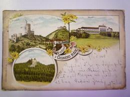 TCHEQUIE  :   POZDRAV Z CESKEHO RAJE  -  Carte Couleur   1901  X - Czech Republic