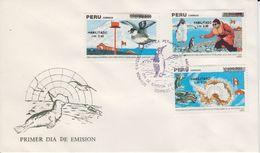 Chile 1991 Antarctica 3v Overprinted FDC (41604) - Chili