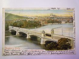 TCHEQUIE  :   POZDRAV Z PRAHY   1901  X - Czech Republic