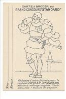21266- Carte à Broder Grand Concours Standard Publicité Ceylan - Brodées