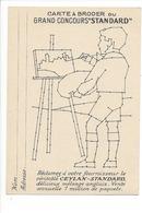 21267- Carte à Broder Grand Concours Standard Publicité Ceylan - Brodées