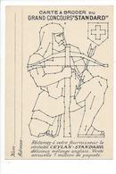 21268- Carte à Broder Grand Concours Standard Publicité Ceylan - Brodées