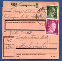 Colis Postal -  Départ Sarrebourg  -  23/6/1943 - Allemagne