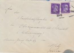 Lettre Obl. Ambulant (T356 Strassburg-Saarburg Zug -) Sur TP Reich 6pfx2  Pour Metz (mal Frappé) - Alsace-Lorraine