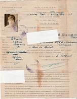 Sauf-Conduit / Laissez-passer 1921 / Pour HCITR / Haute Commission Kreuznach & Meisenheim Allemagne - Army & War