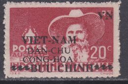 Viêt-Nam Du Nord N° 7 XX Timbres D'Indochine Surchargés : 20 C. Rouge Sans Charnière, Dent. Habituelle  Sinon TB - Viêt-Nam