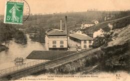 87. CPA. SAINT PRIEST TAURION. Usine Des Roches, Cartonnerie De La Famille Hétier.  1908. - Saint Priest Taurion