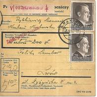 POLOGNE Paketkarte Krakau > Lemberg  1943 > à Voir! - 1939-44: 2. WK
