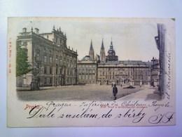 TCHEQUIE  :   PRAHA  -  Kral Hrad A Arcibiskupska Residence     1901  X - Czech Republic