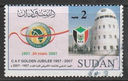 Sudan 2007 The 50th Anniversary Of Confederation Of African Football Or CAF 2 SDG Multicoloured SW 615 O Used - Sudan (1954-...)