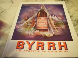 ANCIENNE PUBLICITE APERITIF AU QUINQUINA  BYRRH  1952 - Affiches