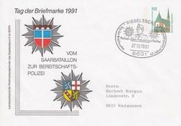 PU 29Y C1/5b Tag Der Briefmarke 1991 Vom Saarbataillon Zur Bereitschfts -Polizei, Riegelsberg 1 - BRD