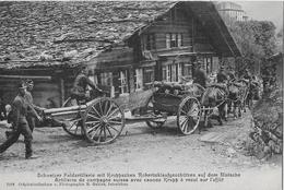 SCHWEIZER FELDARTILLERIE → Verschiebung Von Kruppschen Rohrrücklaufgeschützen - 1914-18
