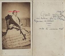 CDV Vers 1856-Marie Zoé ANTOINE Très élégante-mode-épouse D'Alphonse Prugneaux-photo Ch. Gilbert Photographe  Toul - Photos